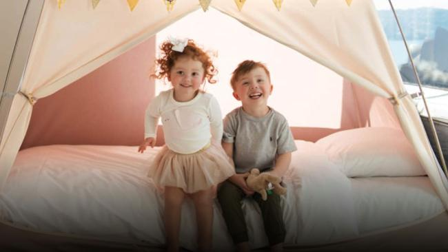 1/10In tents fun Book a suite at the Four Seasons smack bang next to Circular Quay and the little ones get their own in-room tent with bunting and bedding. Even if you opt for one of the regular rooms the Family Fun package scores little ones a welcome gift, there's daily breakfast for two adults and two children under 12, an in-room kids' movie with movie snacks, 50 per cent savings on kids' laundry items, kid-friendly bath amenities and themed linen.