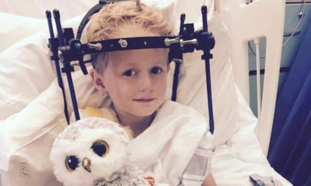 Boy breaks his neck on trampoline - but doctors don't notice for five weeks