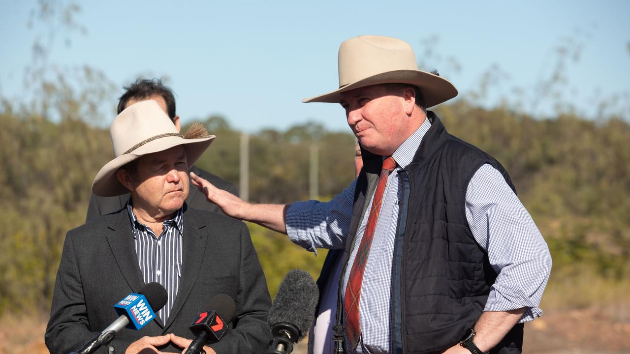 Barnaby Joyce blasted Ms Hopkins for her comments. Picture: Steve Vit