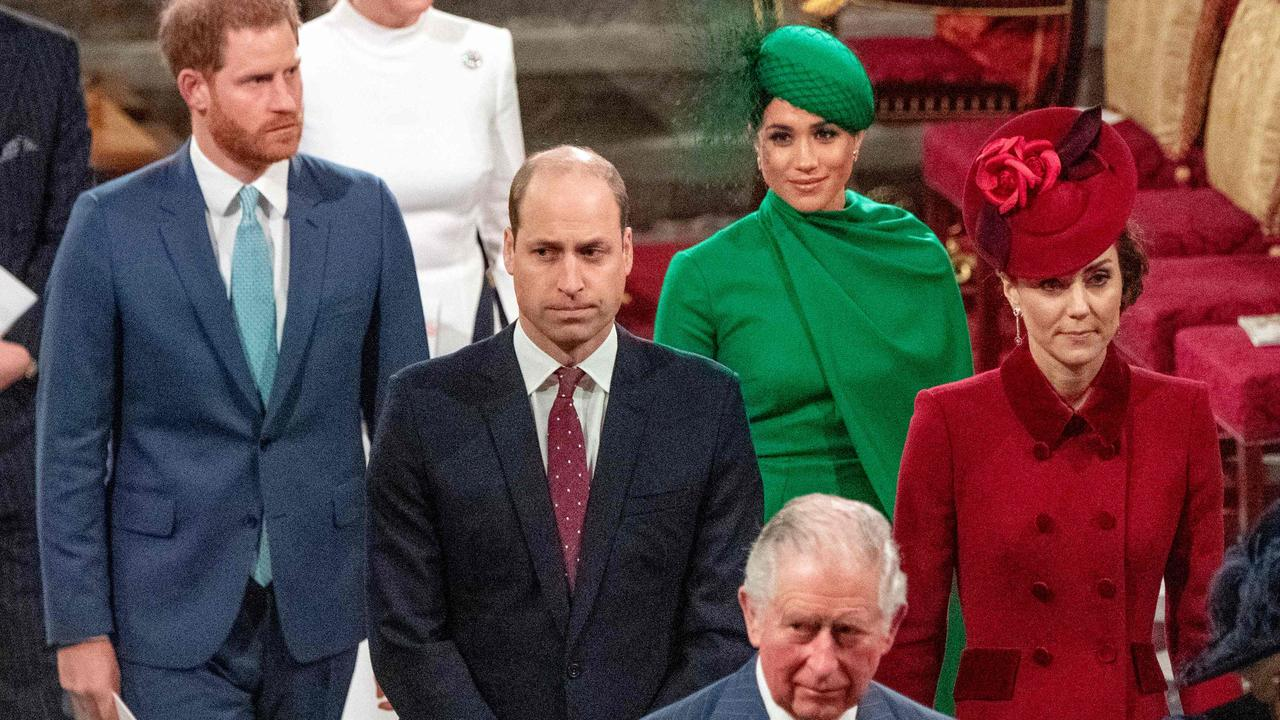 Harry and Meghan were previously living next to William and Kate in Kensington Palace. Picture: AFP.