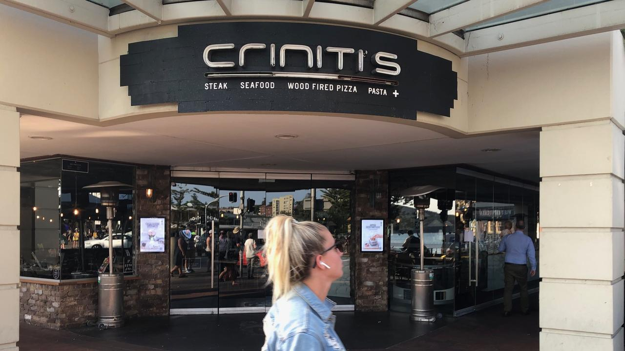 Criniti's now closed store in Manly. Picture: Jim O'Rourke