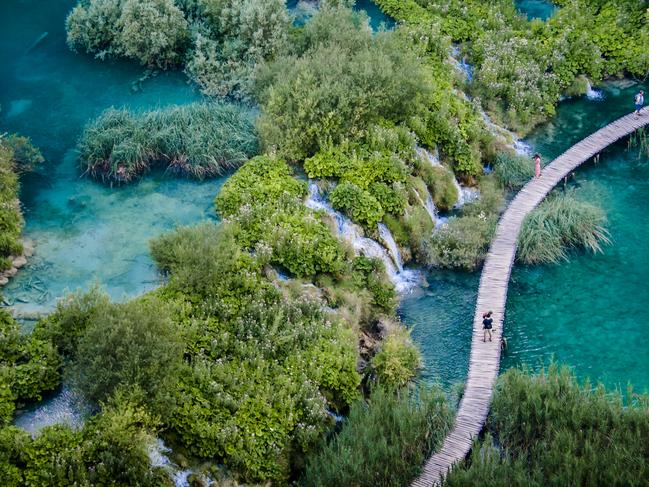 PLITVICE LAKES NATIONAL PARK, CROATIA: With Croatia such a hot destination at the moment, it may seem like Plitvice Lakes has just burst on to the tourist scene — but this extraordinary area has long been attracting visitors. The series of 16 lakes, connected by waterfalls and walkways and surrounded by 300sq km of forest, is a drawcard for more than a million visitors a year, and counting. It's been a national park since 1949, with its first hotel dating back to 1896. While it's doable in a day trip from Zagreb or Split, it's better if you can stay longer. np-plitvicka-jezera.hr
