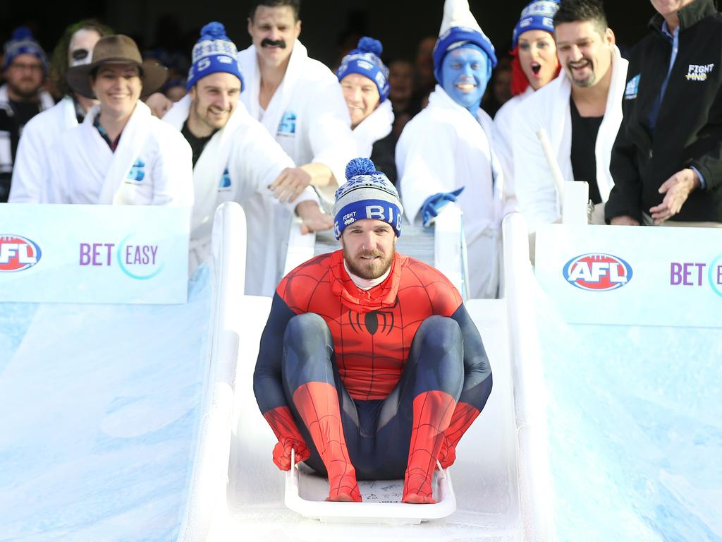 Dane Swan featured in Big Freeze 5 at the MCG.