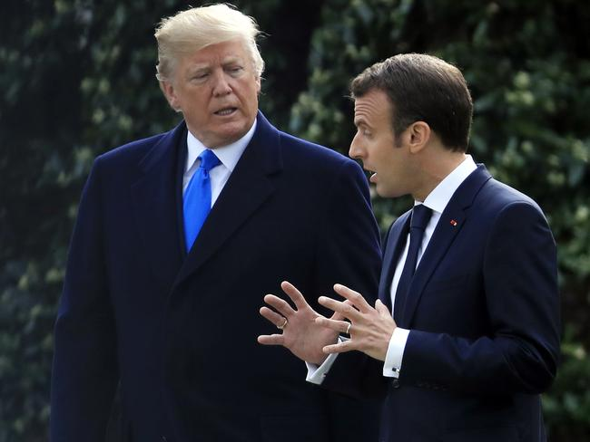 Macron is seen as Europe's 'Trump whisperer'. Picture: AP