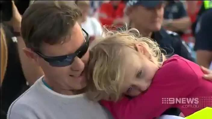 Jocelyn Lewis reunited with her father