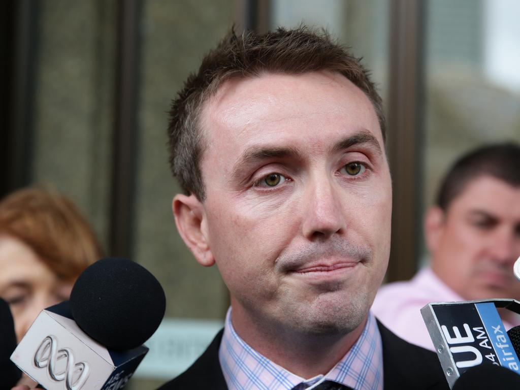 James Ashby sued Peter Slipper for alleged sexual harassment in April 2012.