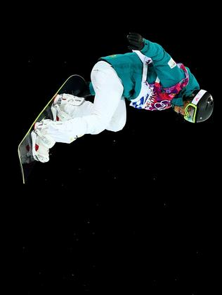 Torah Bright of Australia struts her stuff at the Sochi 2014 Winter Olympics at Rosa Khutor Extreme Park in Russia. Picture: Getty