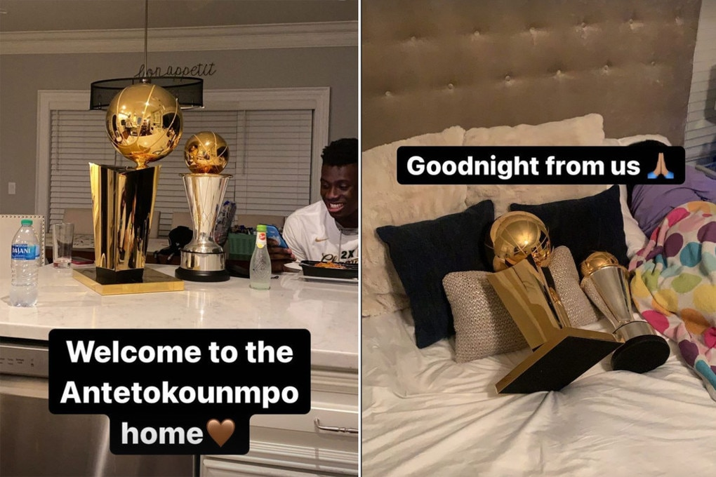 Giannis Antetokounmpo gave a look inside his home on Instagram on the night he won the title. Picture: Realtor