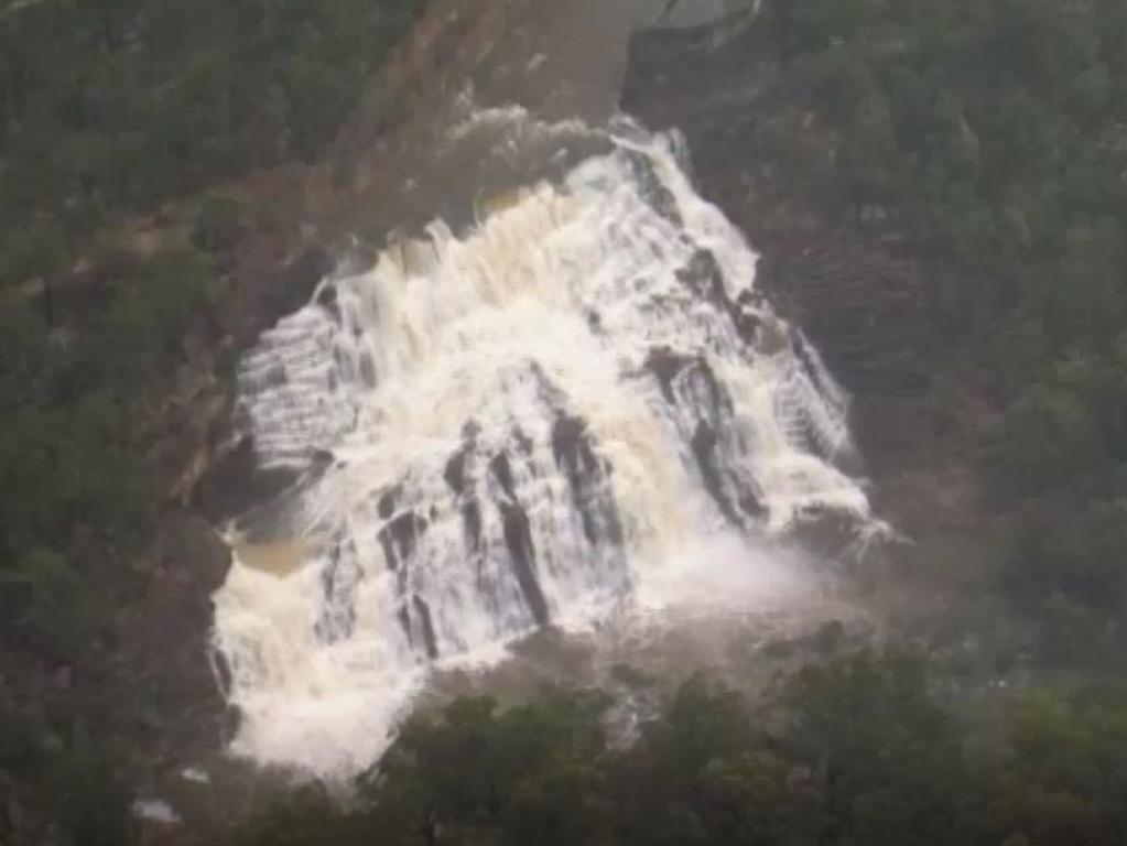 The dam reached 100 per cent capacity after the recent rainfall. Picture: ABC