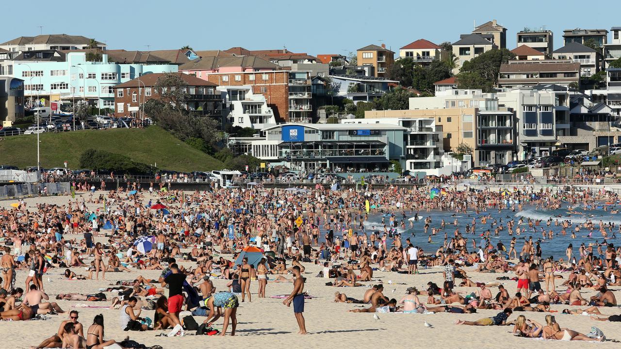 People flocked to Bondi Beach on Friday despite the threat of coronavirus. Picture: AAP/John Fotiadis