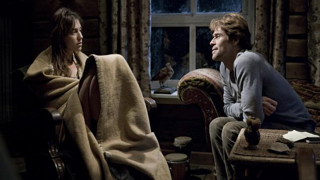 Charlotte Gainsbourg and Willem Dafoe in Antichrist.