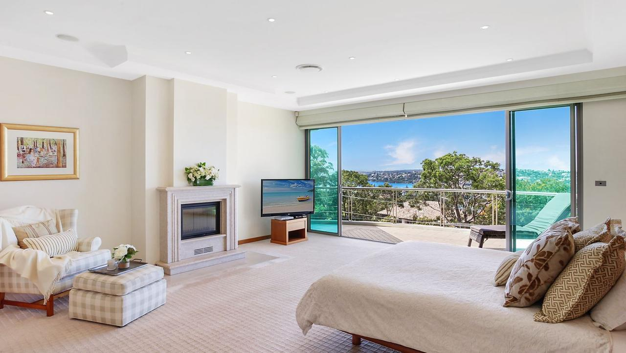 The master suite opens to a terrace with an even better view.