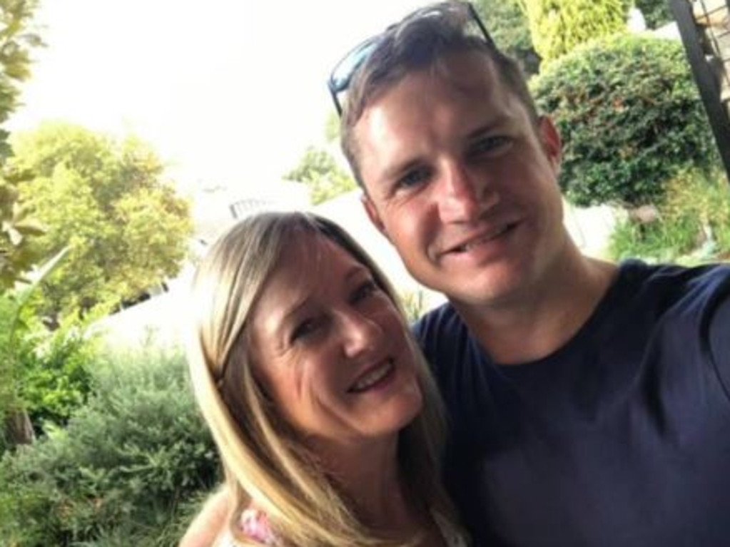 Kyle with his mother who lives in South Africa. Picture: Facebook