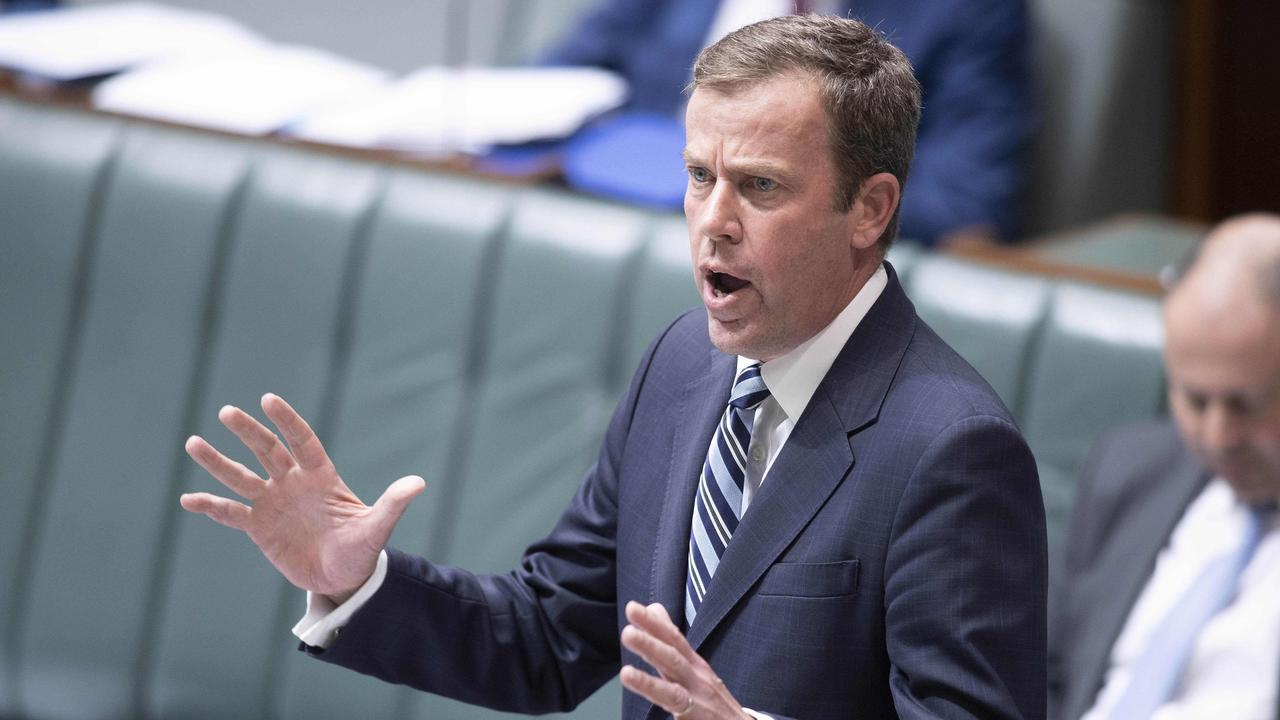 Federal Education Minister Dan Tehan Minister is urging states to get their international student proposals in before Christmas. Picture: Gary Ramage/NCA NewsWire
