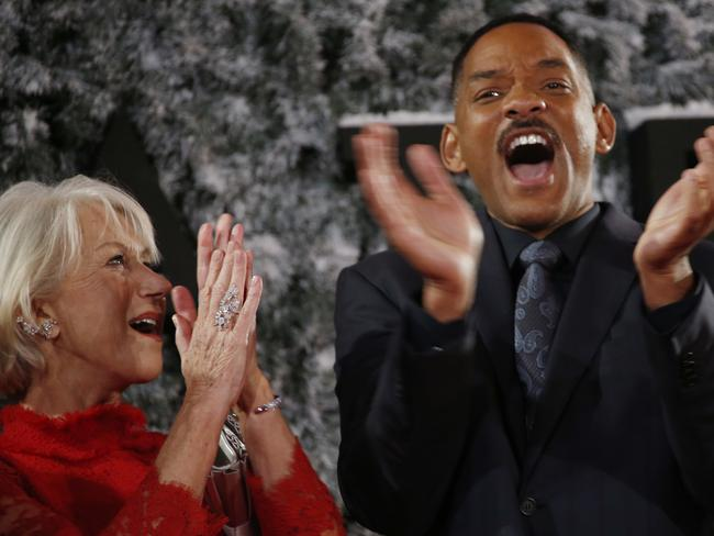 Helen Mirren and Will Smith star together in Collateral Beauty. Picture: Joel Ryan/Invision