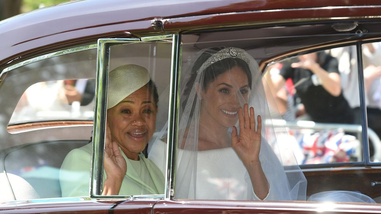 Meghan Markle and her mother Doria Ragland. Picture: AFP