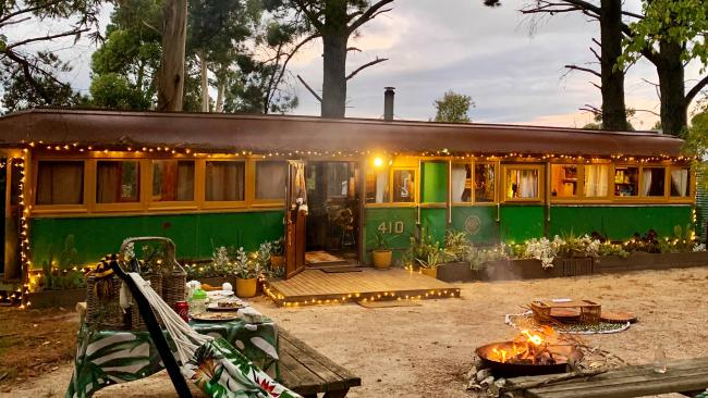 8/10The Retro Tram and Cottage, Lauriston, Vic. We've got good news and bad news here. Like the title says, this is an actual converted tram that accommodates four guests in eclectic style. It's the ultimate in shabby chic and the outdoor fire pit is heaven. The bad news is that it was heavily damaged by a storm in June. Restorations are underway so keep an eye out. The wait will be worth it. From $320 per night. While you're there: Designate a driver and hit up the Animus Distillery for some hand-crafted gin.