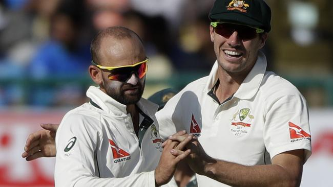 Nathan Lyon is one Test wicket away from drawing level with Richie Benaud.