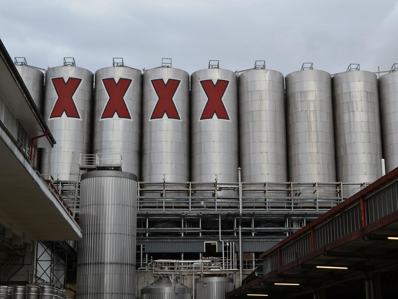 The landmark Fourex Brewery silos are a measure of the size and capacity of the popular brand.