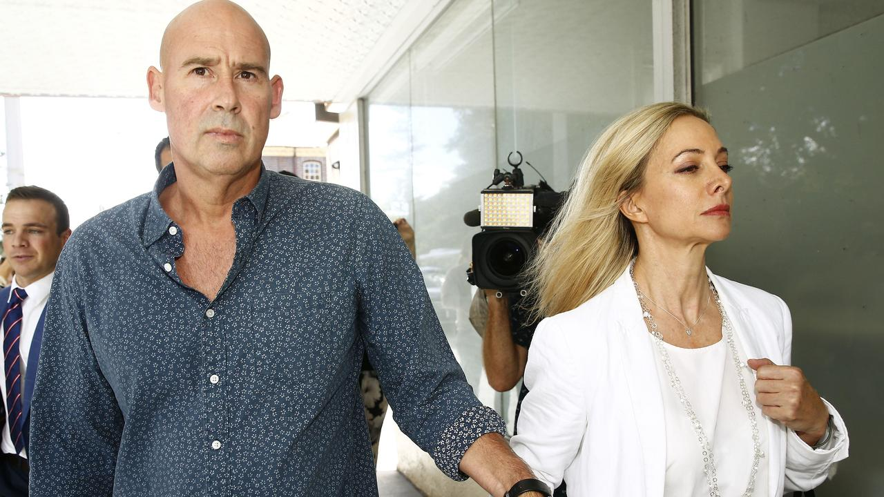 James and Janine Daniels attend a bail hearing for their son on child sex allegations which reportedly 'stunned' the couple. Picture: John Appleyard