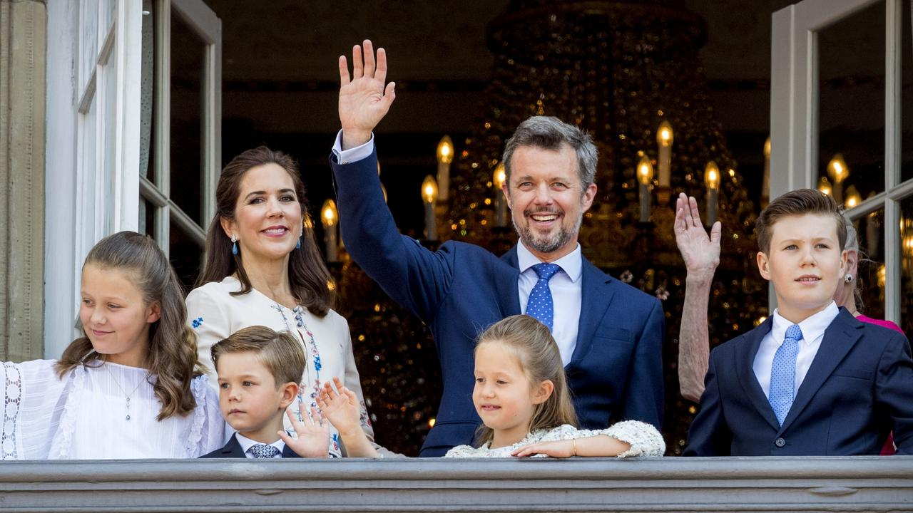 The family, pictured in 2018, are in isolation following the diagnosis of Prince Christian (right). Picture: Patrick van Katwijk/Getty Images