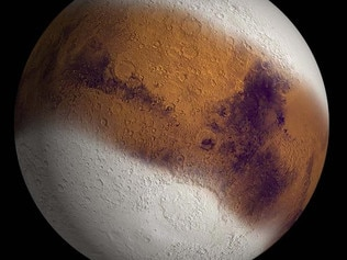 Ancient Mars may have been covered in a huge ice sheet Credit: NASA