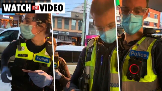 Melbourne man confronts cops over masks