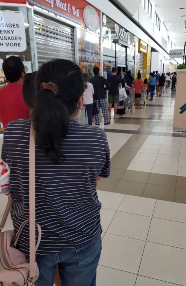There were 'crazy' queues this week as parents rushed to score the Back to School Special Buys deals. Picture: Facebook