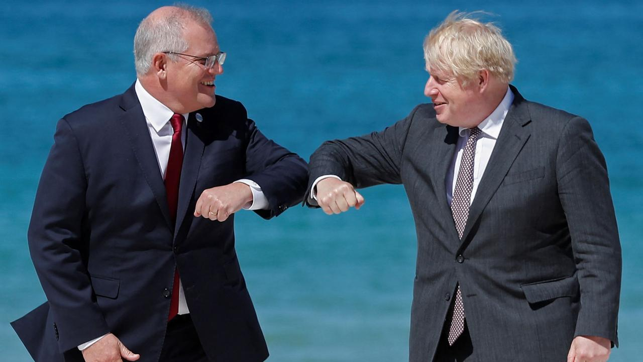 Scott Morrison in the UK for the G7. Picture: Peter Nicholls/AFP