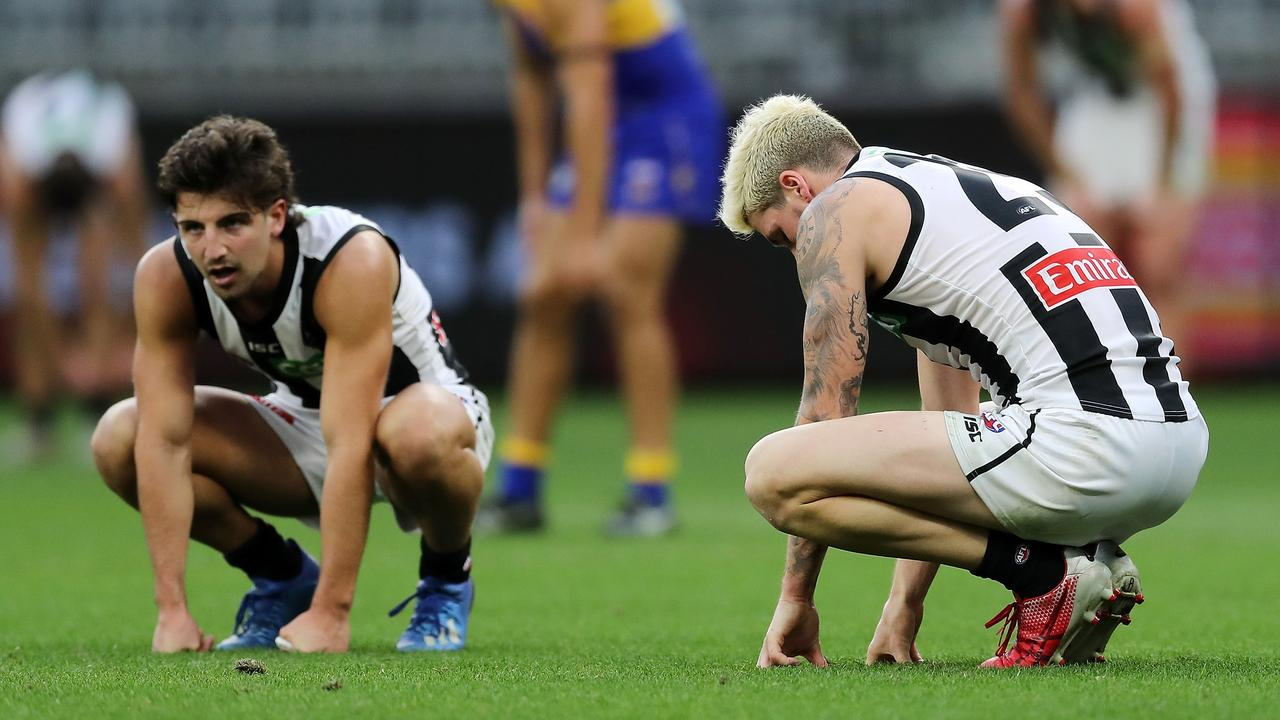 Collingwood was woeful in Sunday's loss to West Coast. (Photo by Will Russell/AFL Photos/via Getty Images)
