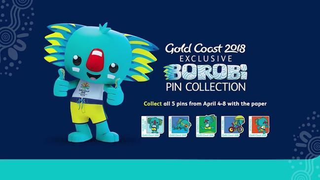 Gold Coast 2018 Official Borobi Pin Collection