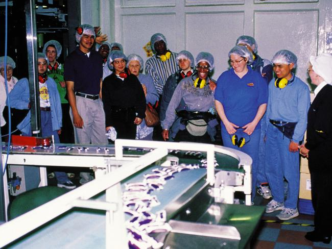 Visitors taking a tour of the Cadbury factory in Claremont, back when the visitor centre was still open.