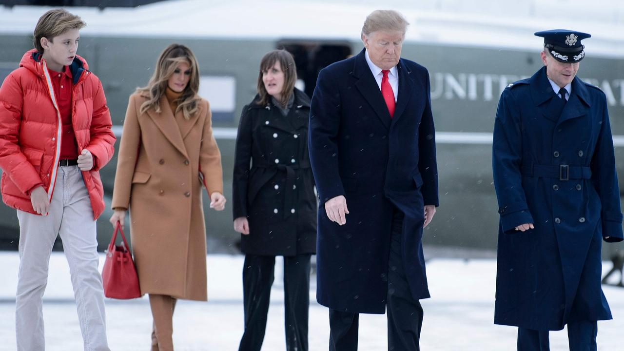 The Trumps were spending Super Bowl weekend at their Florida home. Picture: AFP