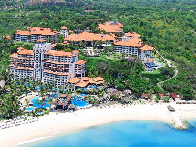 INDONESIA    6-DAY PACKAGE, $999  Indulge in a stay at the five-star Hilton Bali Resort (pictured) with a five-night package that has been reduced by up to 63 per cent and is now priced from $999 a person including flights departing from Perth. The price includes an upgrade to a Deluxe Ocean View Room, breakfast daily, return transfers, a buffet dinner, house cocktail and late check-out of 2pm. Book before February 12, 2020 and travel in select periods until June 30, 2020. The price departing Adelaide, Brisbane, Melbourne and Sydney is from $1199 a person, twin share.Bookings via Flight Centre