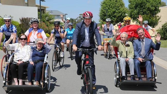The first Australian arm of Cycling Without Age was launched at the Danish Embassy in Canberra.