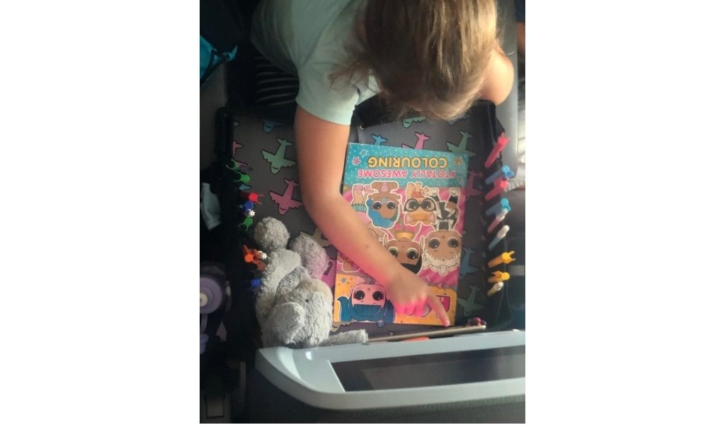 Kooshy Kids foldable travel tray