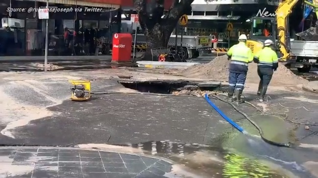 Double Bay: Massive sinkhole opens up in wealthy Sydney suburb