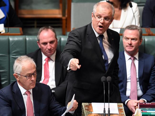 "Pauline Hanson's ""kneejerk"" response to the London attack was ""irresponsible"", Treasurer Scott Morrison says. Picture: AAP Image/Sam Mooy"