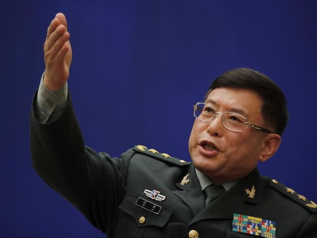 """China's Lt Gen He Lei has slammed the comments as """"irresponsible""""."""
