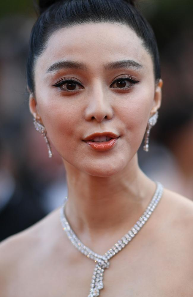 """Fan thanked China's Communist Party and her fans, attributing her success to them, saying she would pay the penalties and in future """"uphold the law and respect orders"""". Picture: AFP"""