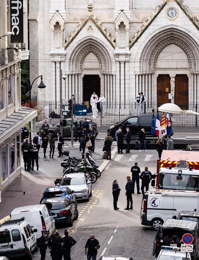 Police attend the church after the attack. Picture: Arnold Jerocki /Getty Images