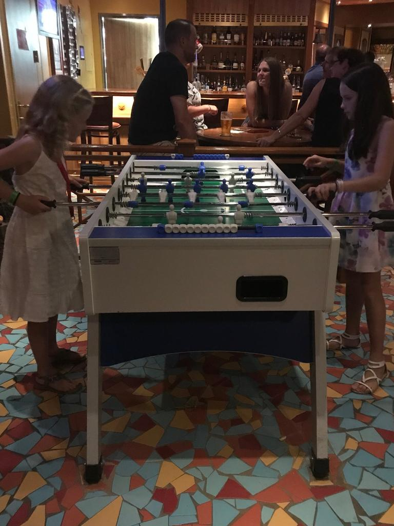 There's games rooms for kids and adults.