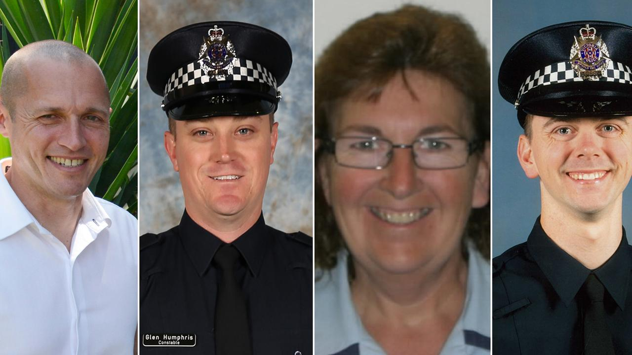 Senior Constable Kevin King (L) Constable Glen Humphris, Leading Senior Constable Lynnette Taylor and Constable Joshua Prestney. Pictures: Supplied