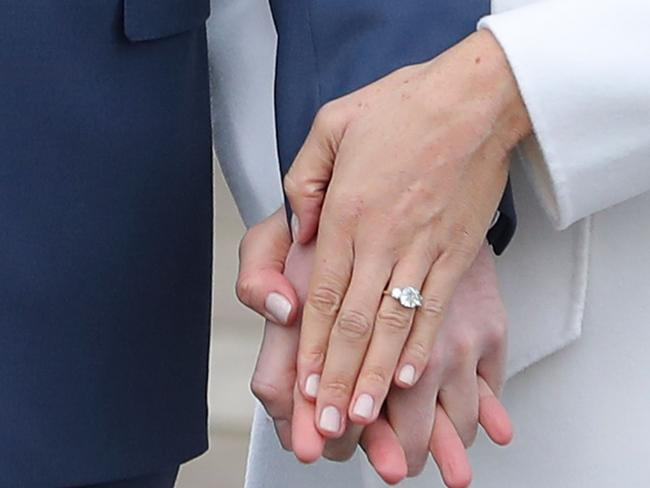 The ring includes a special tribute to Harry's mother, Diana. Picture: AFP Photo/Daniel Leal-Olivas