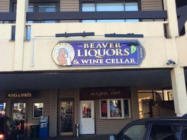 The famous Beaver Liquors bottle shop.