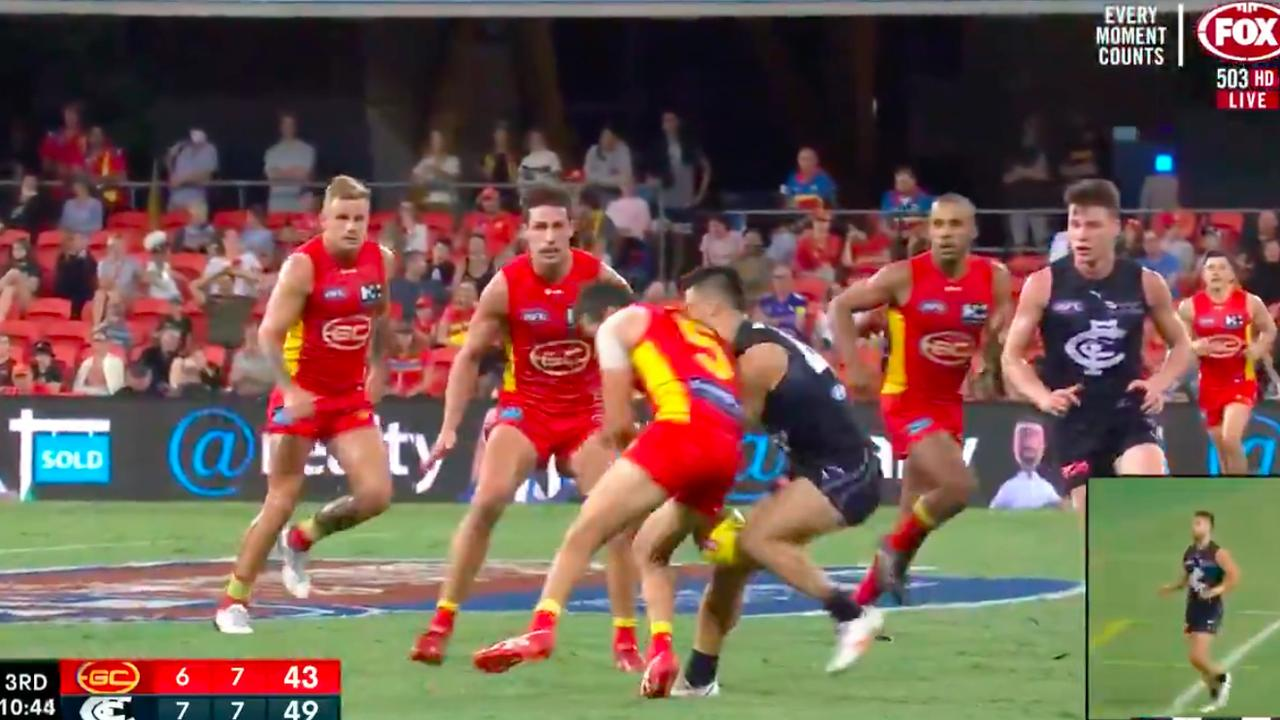 Jarrod Harbrow wasn't cited for the incident with Michael Gibbons.