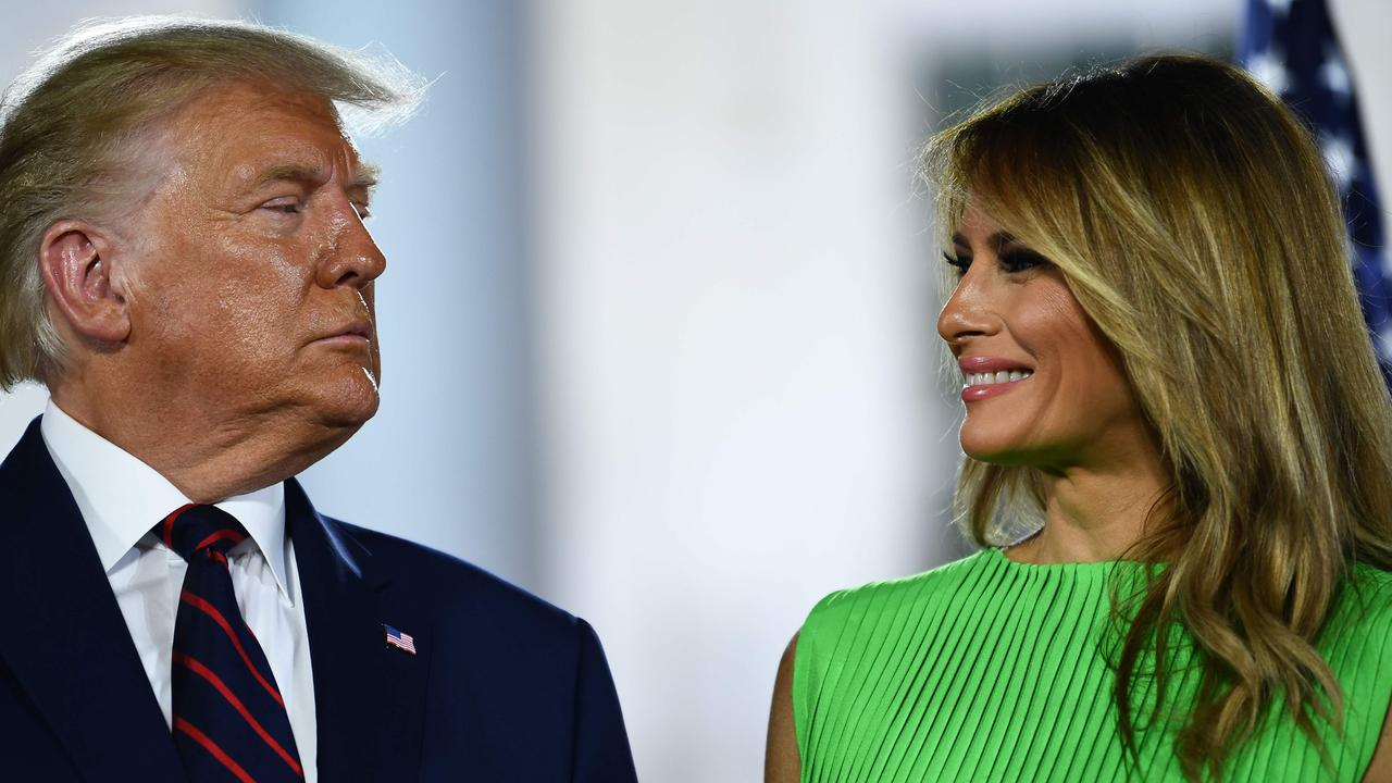 """The likelihood of Donald and Melania Trump staying together is """"99.99 per cent"""", a """"friendly acquaintance"""" of the couple has revealed. Picture: Brendan Smialowski/AFP"""