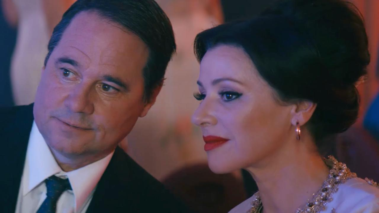 Tina Arena and Paul Mercurio in a scene from the movie Promised.