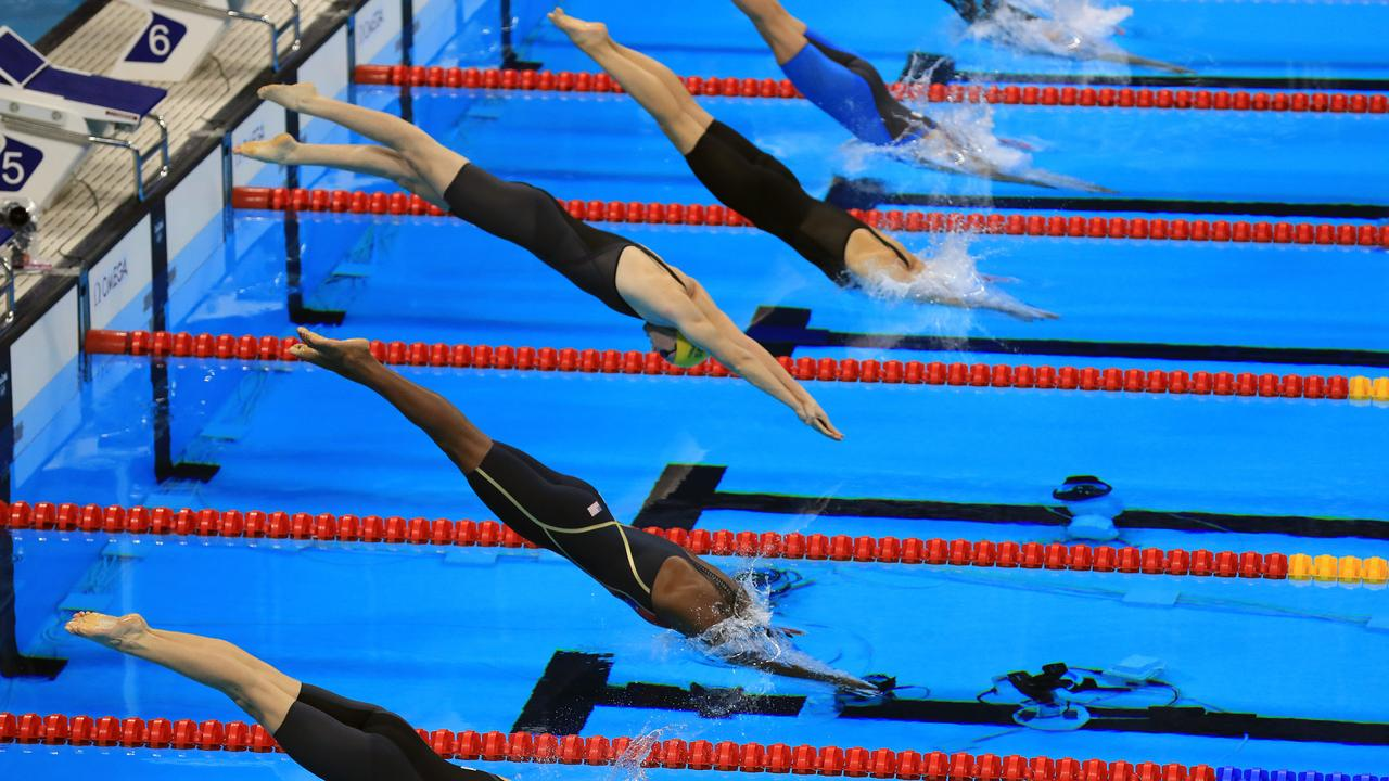 Swimming and athletics have the most events and participants at the Olympics. Picture: Alex Coppel