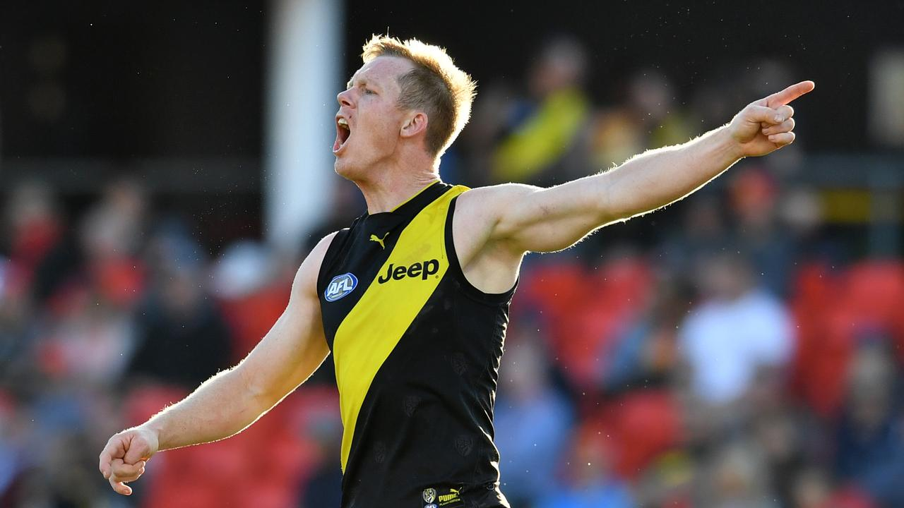 Jack Riewoldt doesn't get much love from the umpires. Photo: AAP Image/Darren England